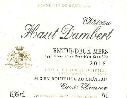 Château Haut Dambert - Cuvée Clémence White 2019