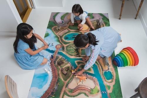 "NEW Tapis de jeu ""Royaume des animaux"" GRAND 120 x 180 cm (09RA180)"