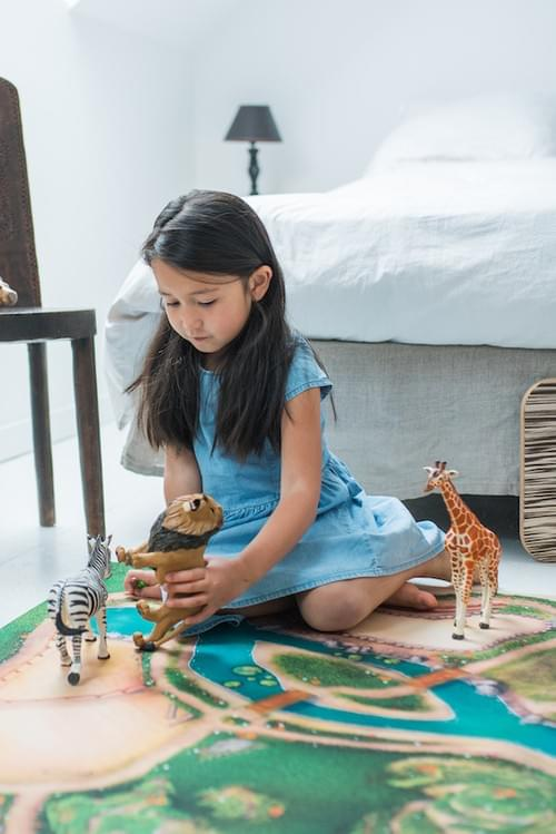 "Tapis de jeu ""Royaume des animaux"" GRAND 120 x 180 cm (09RA180)"