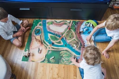 """NEW Tapis de jeu """"Royaume des animaux"""" MOYEN 90 x 120 cm (09RA120)"""