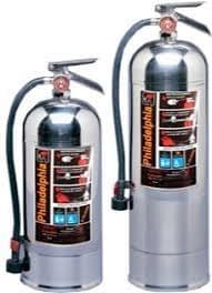 """Extintores para fuego tipo A de agua ligera """