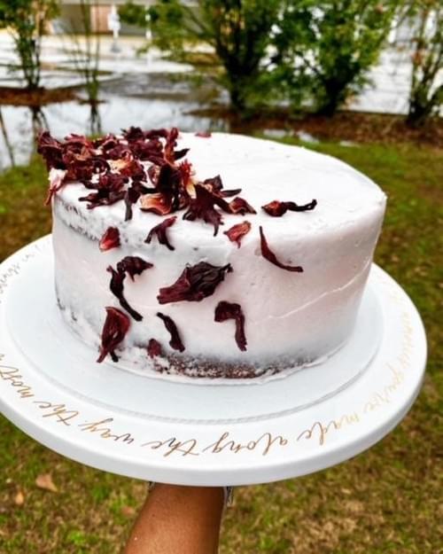 Naked Hibiscus Cake