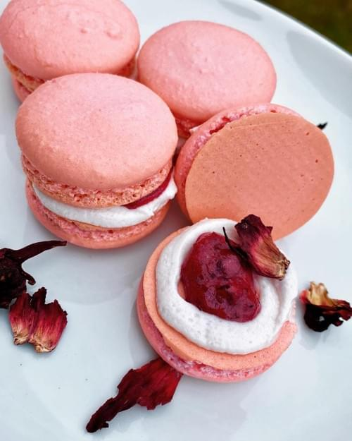 Hibiscus French Macarons