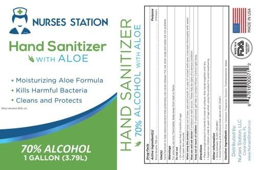 "1 Gallon ""Healthcare Formula"" (Case of 4)  70% Alcohol with Aloe Hand Sanitizer"