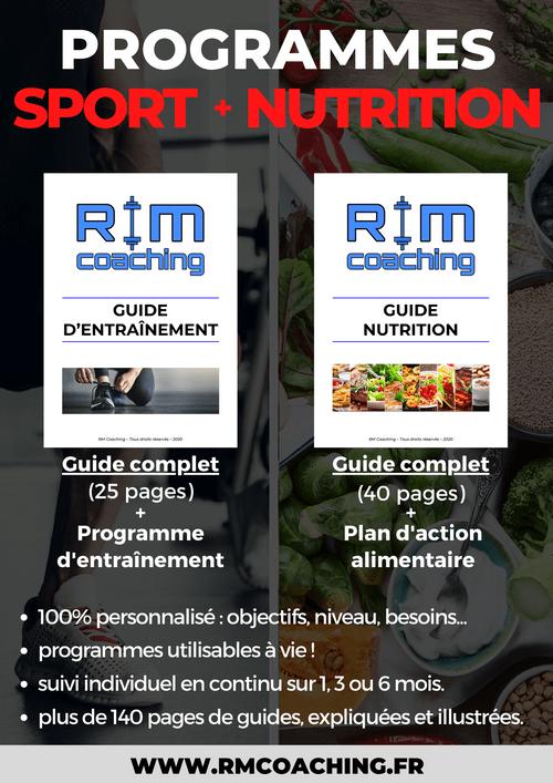 Programmes Sport / Nutrition + 3 mois de suivi