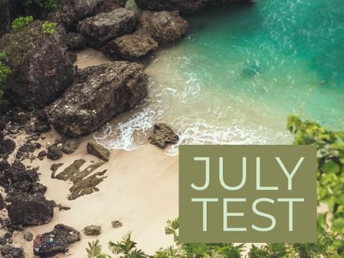 JULY 2020 TEST