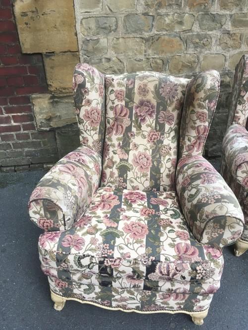 Paire de fauteuil style anglais