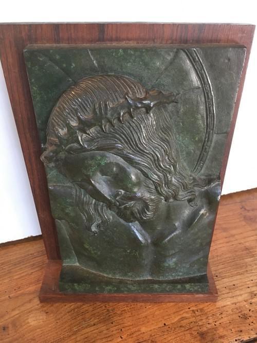 """Plaque en Bronze """"Le Christ"""""""