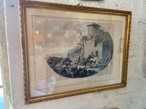 """Gravure """"La Dîner des Voyageurs"""""""