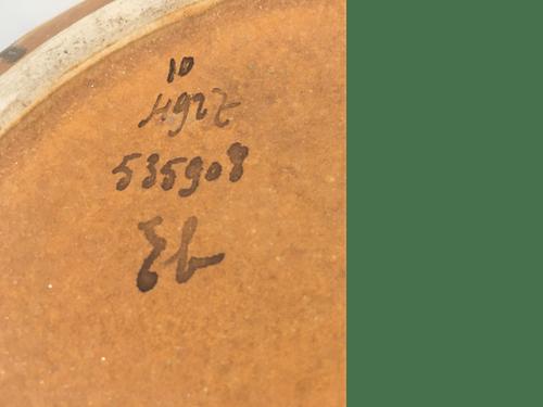 Plat en terre cuite Flammé