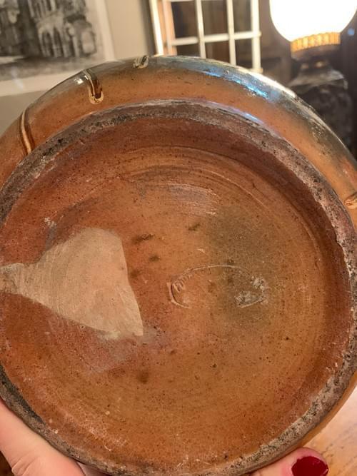 Vase en terre cuite vernissé