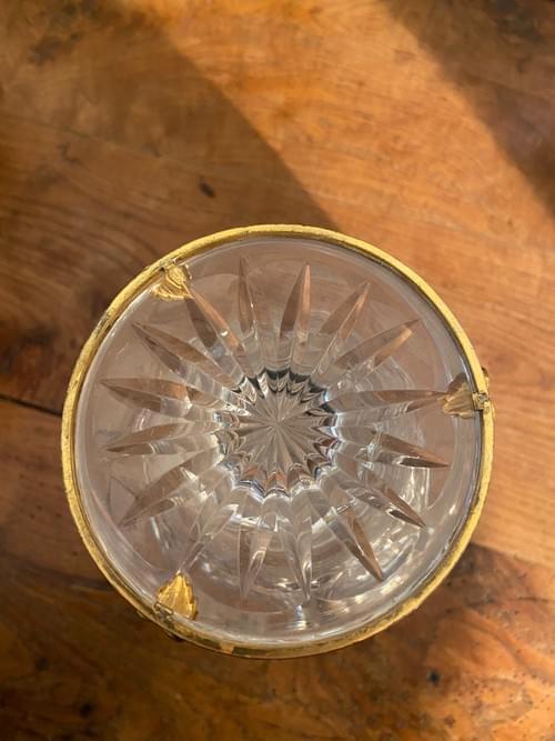 Vase en crystal doré