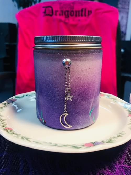 Moon and Star Candle