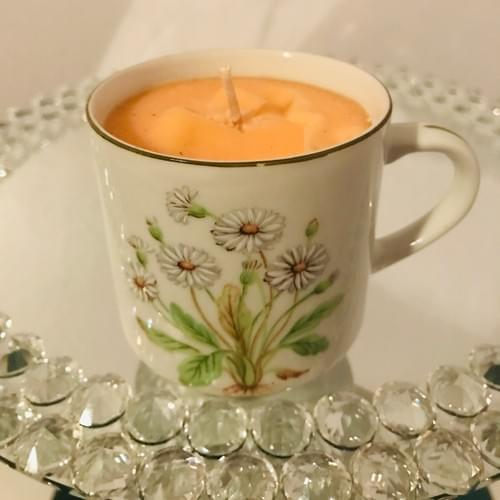 Ginger Bread Teacup Candle