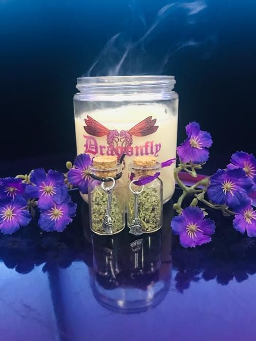 Sage and broom potion bottle