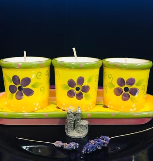 3 Purple flowers