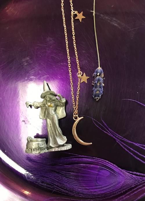 Gold dust women necklace