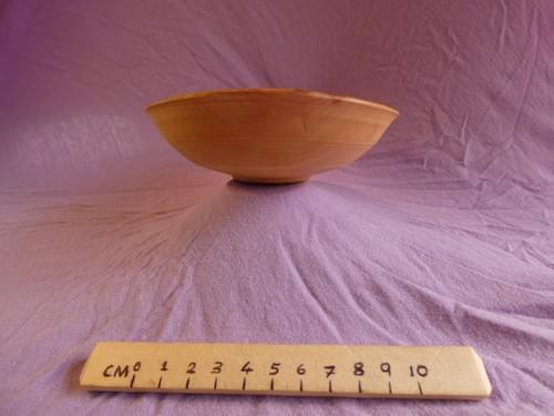 Applewood shallow bowl