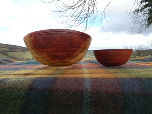 Plum Double Nested Bowl Set