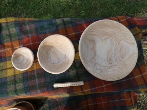Ash Triple nested bowl set