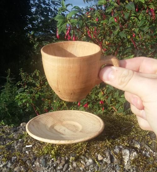 CUPÁN BEAG Espresso cups and saucers (set of 2)
