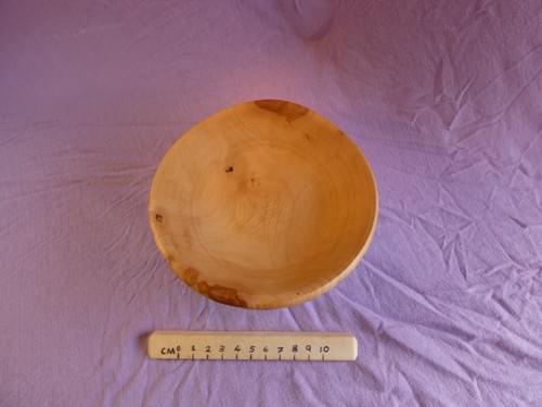 Applewood shallow dish with ebonised exterior