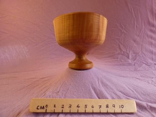 Applewood heartwood-warped chalice goblet