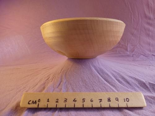 Sycamore bowl with axe mark detail