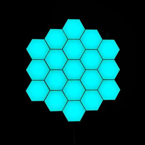 Programmed LED hexagonal Lights