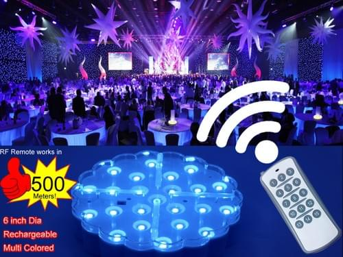 RF Remote Controlled Wedding Table Light Base