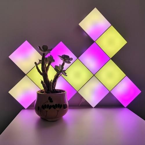 RF remote controlled square lights sync with music