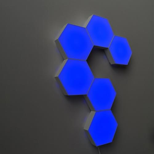 BLUE Touch sensor hexagonal LED lights