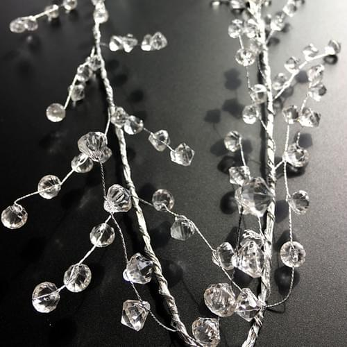 "40"" Clear Diamond Beaded Garlands Wire String Wedding Accessories"