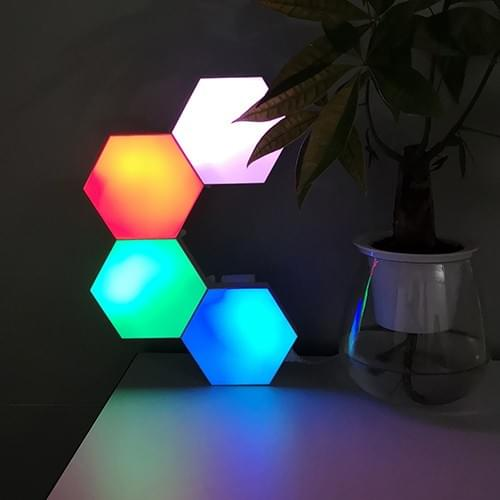 Bluetooth APP operated hexagonal aurora light