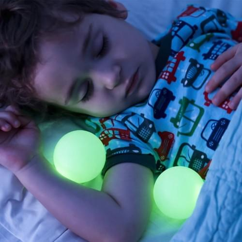Remote controlled LED orb light
