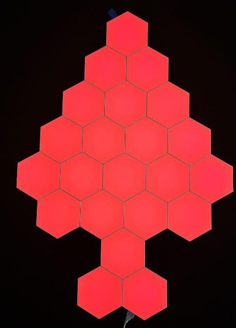 RED Touch sensor hexagonal LED lights