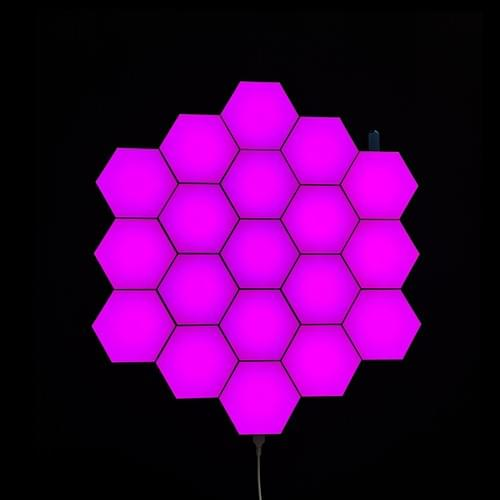 RF remote Programmed LED hexagonal Lights with music sync