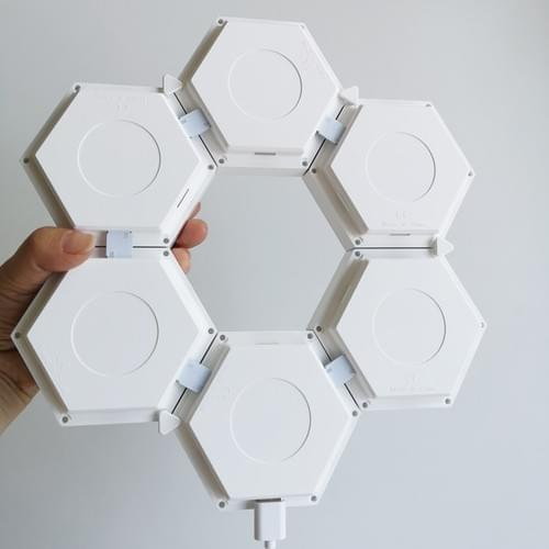 IR remote controlled hexagon lights used as wall lights