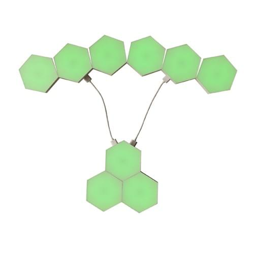 GREEN Touch sensor hexagonal LED lights