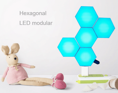 Bluetooth APP operated hexagonal LED modular