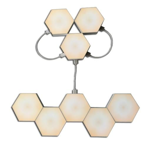 Warm White  Touch sensor hexagon LED lights as wall lights