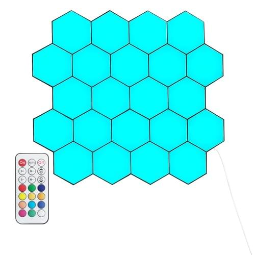 Programmed LED hexagonal Lights