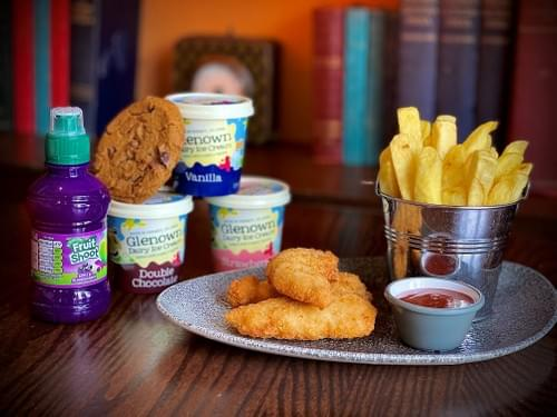 Chicken Goujons Meal Deal Fruit Shoot and Glenown Ice Cream or Chocolate Chip Cookie 1