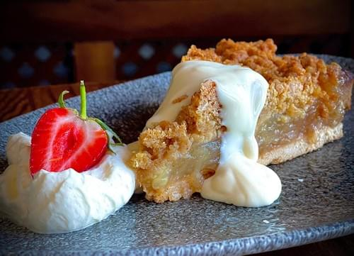 Bramley Apple Crumble, Bramley Apples in a light Cinnamon Spice with our Crunchy Crumble Topping, Cr