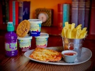 Pizza Baguette Meal Deal  , Fruit Shoot and Glenown Ice Cream or Chocolate Chip Cookie