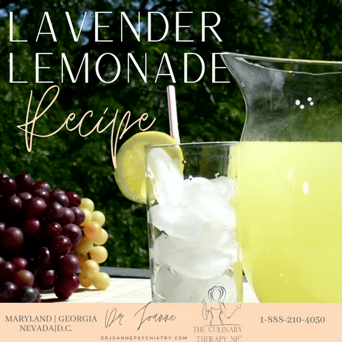 The Culinary Therapy NP Lavender Lemonade e-Recipe (Freebie)