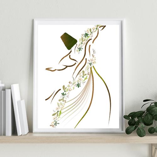 Whirling Dervish, Floral