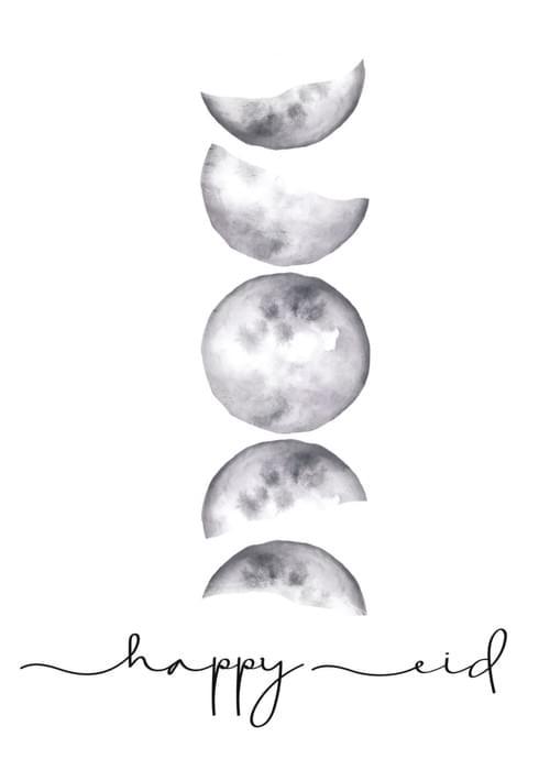 Happy Eid- Moon Phases
