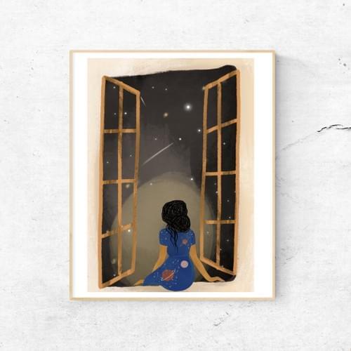 Stargazing A5 print