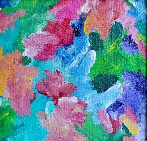 Gratitude in Bloom (20 x 20 cm)